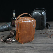 New Mens Vintage Leather Travel Handbag Briefcase Laptop Shoulder Messenger Bags