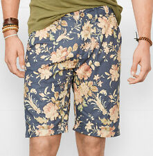 new Ralph Lauren Denim & Supply floral poplin shorts mens blue, 36, MSRP $69.50