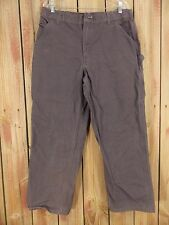 CARHARTT Pant Carpenter Dungaree Fit Work Gray Men's Size 36 X 29