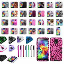 For Samsung Galaxy S5 S V G900 Tuff Hybrid Hard Phone Case Cover+LCD Shield+Pen