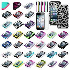 Stylish TUFF Hybrid Phone Hard Case Cover For Apple ipod touch 5th 6+Shield+Pen
