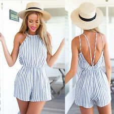 Women Clubwear Halter Backless Playsuit Bodycon Party Jumpsuit&Romper Trousers