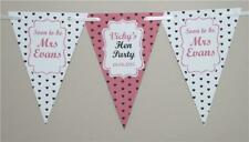 Personalised Hen Party Bunting Shabby Banner  Do night weekend Decoration