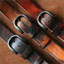 Vintage Mens Womens Genuine Top Grain Leather Belt Waistband Casual Jeans belts