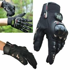 Motorcycle Riding Racing Bike Protective Armor Full Finger Leather Gloves XL