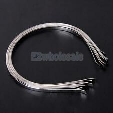 10x Metal Headbands for Boutique Hair Bows Hairbands Girls Accessory Silver