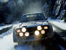 Audi Quattro Rally Snow Headlights Front Sport Gigantic Print POSTER