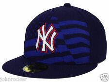 NEW YORK YANKEES MLB JULY 4TH ON FIELD NEW ERA NAVY BLUE FITTED HAT/CAP NWT