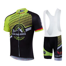 Cycling jerseys short sleeved Jersey sets Bicycle Summer Cool bib short pants