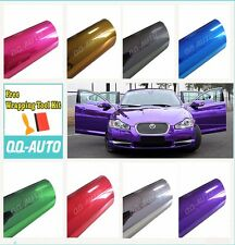 "12""x60"" Chrome Mirror Colors Vinyl Wrap Sticker Decal Sheet Air Bubble Free"