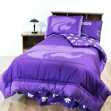 Kansas State Wildcats Comforter Sham & Throw Blanket Twin or King Size CC