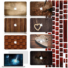 """Tree Skin Painted Hard Case Cover+Wood KB +SP For Macbook Air Pro 13"""" 15"""" Retina"""