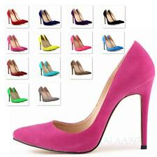 Ultra high Stiletto Heeled Party Mega Heels Womens faux Leather Shoes Size 13-4
