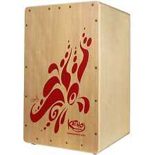Katho Fiesta Cajon 47cm - Made in Spain - Pine w. Red Design NEW SHIPPED FROM UK