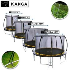KANGA 6FT / 8FT / 10FT / 12FT Trampoline with Safety Net, Ladder, Winter Cover