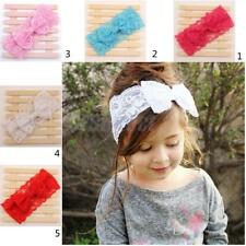 Lovely Baby Girls Toddler Lace Hairband Bowknot Headband Everyday Dress up Decor