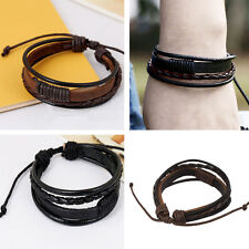Bangle Bracelets Cuff Men Multilayer Hot Leather Wristband Cool Bracelet t