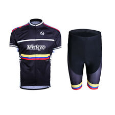 Bike Team Cycling Jersey Tops/Outdoor shorts Set Bicycle Shirt Suit Men S-3XL