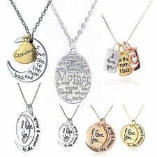 I Love You To The Moon And Back Mothers Mum Day Pendant Necklace Jewellery