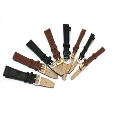 Watch Strap Genuine-Leather Replacement Repair Band Black/Brown Leather ZYT