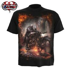 Spiral Direct T-Shirt Biker Heavy Metal Reaper Flames STEAM PUNK RIDER TR370600