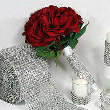 "4.7"" Diamond Mesh Wrap Roll Rhinestone Wedding Party Decor Trim Wrap Roll Hot 1x"