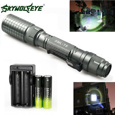 CREE XML T6 LED Flashlight 5-Mode Torch Lamp Battery & Charger Bike Mount