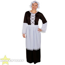 WOMENS TUDOR MAID FANCY DRESS COSTUME MEDIEVAL POOR VICTORIAN DRESS PEASANT