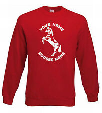 KIDS HORSE RIDING JUMPER - STALLION REARING PERSONALISED SWEATER HORSE 5-15