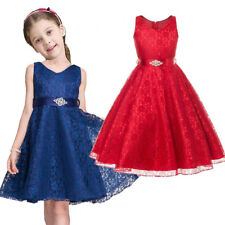 Flower Girl Kid Princess Wedding Bridesmaid Party Pageant Formal Prom Gown Dress