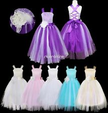 Flower Girls Wedding Formal Bridesmaid Party Christening Pageant Gown Dresses