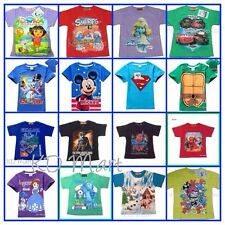 New Kids Girl Boy Short Sleeve Tops T-Shirt  1Y-12Y Cartoon Character Collection