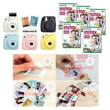 Fujifilm Instax Mini 8 Camera + Fuji Instant Film + Sticker Gift Package 50 100