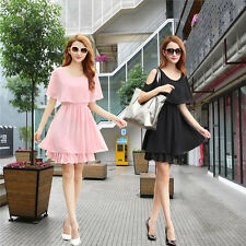 new summer Cultivate one's morality Show thin Big yards Chiffon dress
