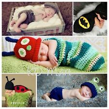 Newborn Baby Boy Girl Hat Set Crochet Knit Beanie Multi Outfit 0-6M Photo Prop