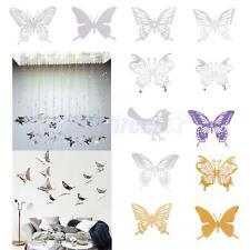 6Pcs Butterfly Wall Sticker Stainless Steel Mirror Decal Room Decor Suncatcher