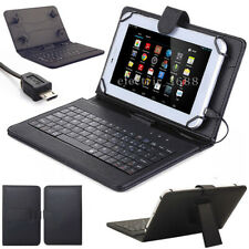 "US For Universal 7-7.9"" Tablet PU Leather Stand Case Cover W/ Micro USB Keyboard"