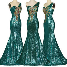 Sequins Mermaid Long Prom Dress Evening Formal Dress Wedding Homecoming Gown