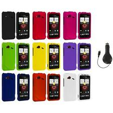 Color Hard Case Cover Accessory+RET Charger for HTC Droid Incredible 4G LTE