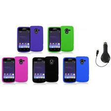 Color Silicone Rubber Gel Soft Skin Case Cover+RET Charger for ZTE Avid 4G N9120