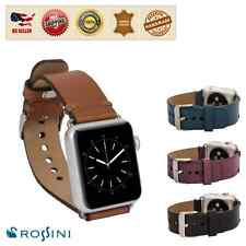 Apple Watch Band Rossini Milan Genuine Soft Leather Watch Band, Strap (Handmade)