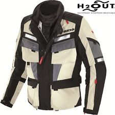 Spidi Marathon Textile Motorcycle Jacket Black White Grey eol