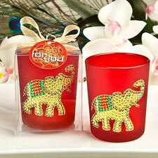 6 X Ruby Red Good Luck Elephant Votive Candle Holder Wedding & Party Favours Red