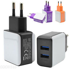 2 Ports Rapid USB Wall Travel AC Charger Adapter For iPhone For Samsung EU Plug