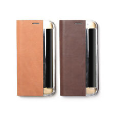 Zenus Vintage Genuine Leather Slim Diary Cover Case For Samsung Galaxy S7 Edge