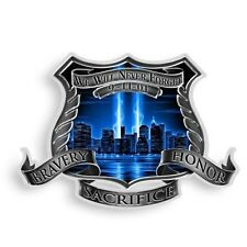 3M Reflective Window Decal 9-11 Police Dept Never Forget Law 911 Badge Sticker