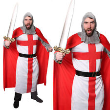 ENGLAND FOOTBALL SUPPORTER FANCY DRESS COSTUME FOOTBALL SAINT ST GEORGE KNIGHT