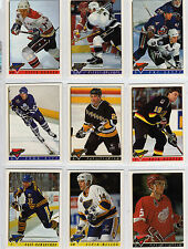 1993/94 Topps Premier Hockey complete / finish your set you pick 20