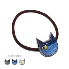 1 Pc 3 Colors Cute Cat Rubber Band Hair Band Ponytail Women Hair Decoration Gift