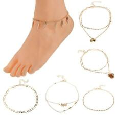 Women Sexy Adjustable Anklet Foot Chain Ankle Bracelet Summer Gold Foo Jewelry